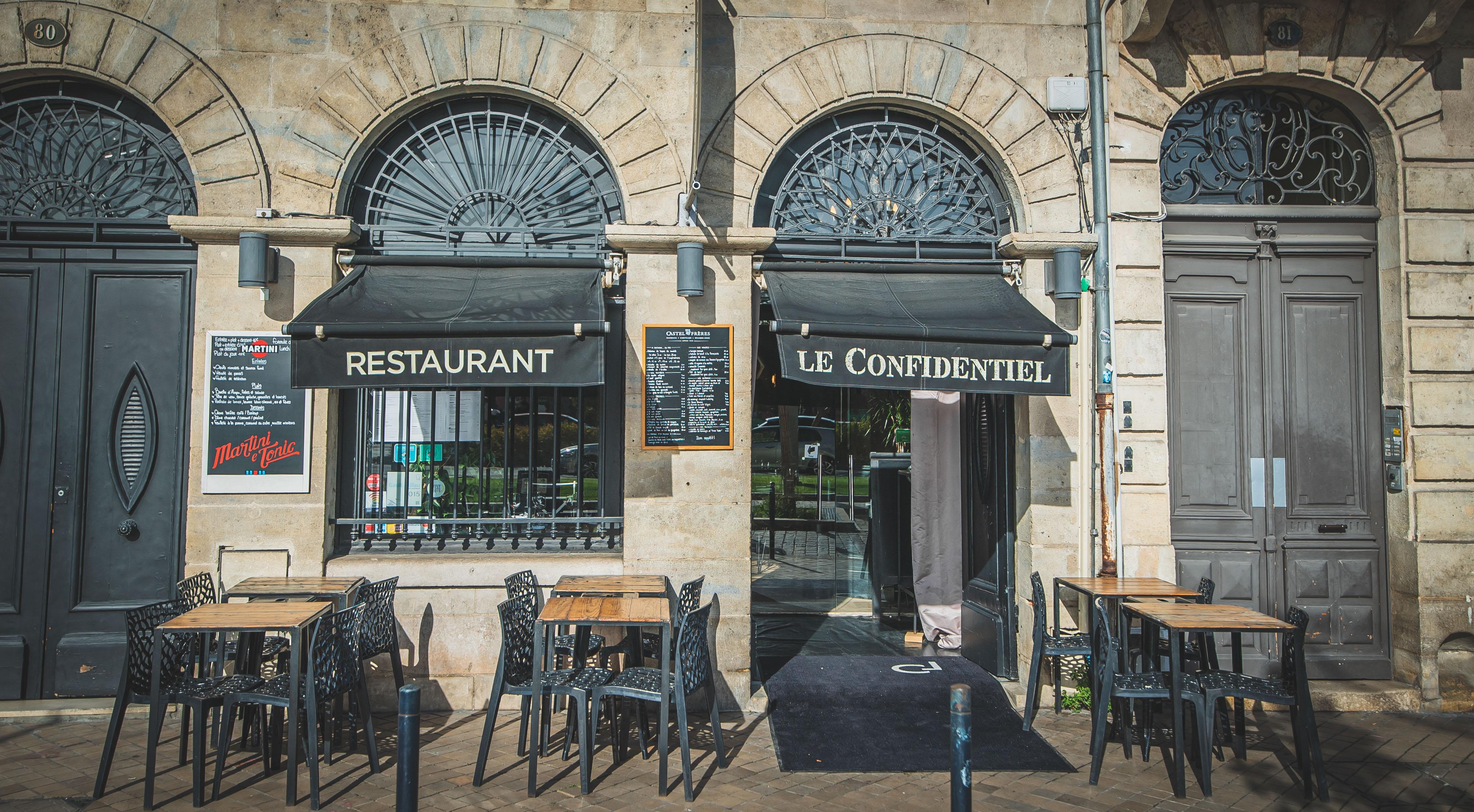 Devanture du restaurant Le Confidentiel